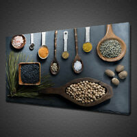 SPOONS OF SPICES CANVAS PRINT PICTURE WALL ART KITCHEN HOME DECOR FREE DELIVERY