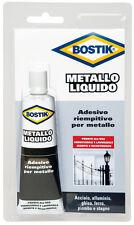 6x colla adesivo riempitivo acciaio alluminio ghisa BOSTIK Metallo liquido ml.55