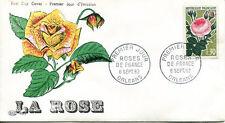 FRANCE FDC - 446 1357 1 FLEUR ROSES DE FRANCE ORLEANS 8 9 1962
