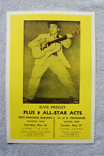 Elvis Concert Tour Poster 1956 Columbus & Dayton Ohio__