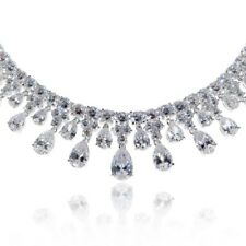 Meteor Shower Necklace Bridal Jewellery CZ Cubic Zirconia - CRYSTALA