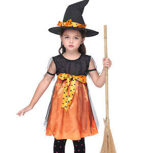 Halloween Costumes for Kids Children Girls Witch Costume Tutu Tulle Party Dress