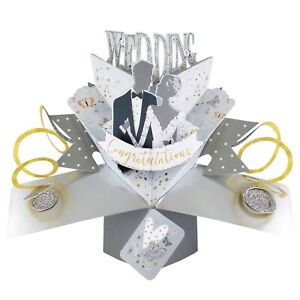 Wedding Card 3D Pop Up Card For Wedding Day Gift Card