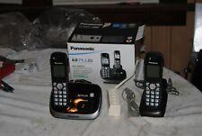 Panasonic DECT 6.0 KX-TG6512 Expandable Digital Cordless Phone Piano Black