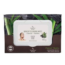 DETOXIFY-CHARCOAL&BAMBOO-60 SHEET-MAKEUP CLEANSING WIPE-SYMPHONY BEAUTY