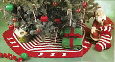 CHRISTMAS Little Stockings Tree Skirt Set/Decor/Crochet Pattern Instructions