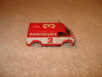 Tyco Red Maintenance Van #3 HO Slot Car Body only
