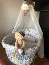 Stubenwagen Birthe mit Bettwäsche, Betthimmel, Bettumrandung