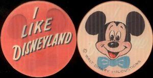 I like Disneyland / Mickey Mouse 1960's Vari-Vue Lenticular Pin / Button