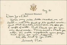 Ronald Reagan - Autograph Letter Signed 08/31