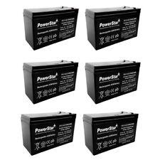 12V 9AH SLA Battery Replaces hr9-12 gp1270 sla1075 gp1270f2 wp7-12 bp8-12 - 6PK