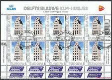 NVPH V 2898  PERSOONLIJKE POSTZEGELS: DELFTS BLAUW KLM-HUISJES EUROPA vel gest.