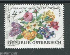 AUTRICHE, 1974, timbre 1276, FLEURS, FLORE, oblitéré