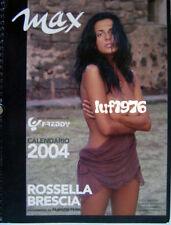 Calendar sexy-ROSSELLA BRESCIA nude-Calendario MAX 2004