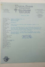 1928 Lamson Goodnow Paper Goods Co Boston MA Letter Ephemera L955K