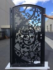 Metal  Iron Contemporary Gate ,Custom Iron Steel  Entry Pedestrian Gate.3'x6'
