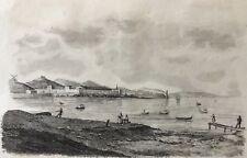 Marseille Lazaret de la Joliette gravure milieu XIXe Contagion épidémie marine