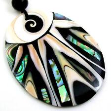 PAUA ABALONE SHELL, CONE SHELLS & SHIVA EYE necklace : EA295