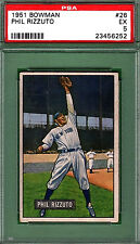 1951 Bowman PHIL RIZZUTO #26 PSA 5 New York YANKEES HOF!!