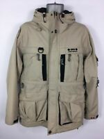 MENS WESTBEACH SUMMIT HYDROTECH BEIGE ZIP HOOD SKI SNOWBOARD JACKET COAT MEDIUM