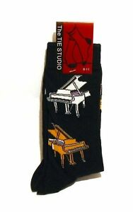 Grand Piano Design Men's Cotton Socks Teacher Student Musician Xmas Music Gift