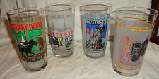 KENTUCKY DERBY 4 COLLECTOR GLASSES--#115-#117-#121-#124--L@@K