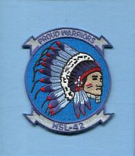 HSL-42 PROUD WARRIORS US NAVY SIKORSKY SEAHAWK Helicopter Squadron Jacket Patch