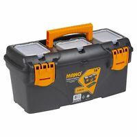 "16"" Large Plastic Tool Box Chest Lockable Storage Chest Organiser 18x36x13cm"