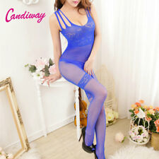 Sex clothes heart body stocking blue pantyhose Lingerie Fishnet mesh Tight