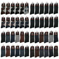 Lot of 12 Pairs Mens Cotton Work Crew Fashion Casual Dress Socks Size 10-13