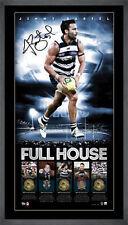 Jimmy Bartel Signed Geelong Full House L/E AFL Print Framed Brownlow Premiers
