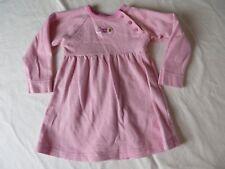 Healthtex Toddler Dress Raglan Long Sleeve Pink White Stripe Sz 18 Mo #6906