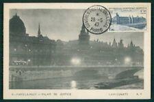FRANCE MK 1947 UPU PARIS LOUVRE MAXIMUMKARTE CARTE MAXIMUM CARD MC CM af13