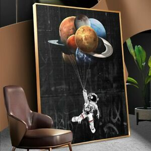 Astronaut Space Dreaming Stars Limit Oil Painting Canvas Wall Prints And Prints