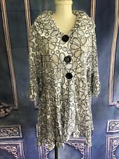 90s Does 1970's Open Mesh Flower Power Coat or Babydoll Dress MEDIUM Button Down