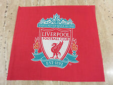 Liverpool football club emblem red remnant sewing fabric 20x18cm approx