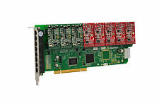 OpenVox A800P35 8 Port Analog PCI Base Card + 3 FXS + 5 FXO, Ethernet (RJ45)