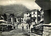 Cartolina di Barzio, automobili e albergo - Lecco