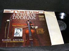 1961 DVORAK Violin Concerto LP Stereo Banner JOSEPH SUK Karel Ancerl ARTIA Clean