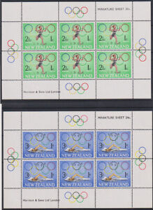 NEW ZEALAND  1968: MNH Health Olympic s/sheets SG MS889 · nice condition (1507)
