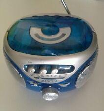 Radio Vintage Musica Boombox Portatile  Mangianastri Cassette blu ,da collezione