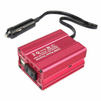 150W 3.1A Dual USB DC 12V to AC 110V/220V Car Power Inverter Converter Adapters