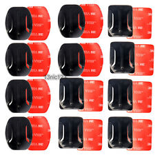 12pcs Helmet Flat Curved Adhesive Mount Pad for Gopro HD Hero 1 2 3 3+ 4 5 SJCAM
