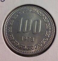 1978 South Korea 100 Won Coin - KM#9 - Sharp Details  (#IN1069)