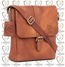 Mens Leather Shoulder Bag Designer Ladies Cross body Work Messenger Travel Case