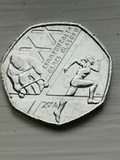 50p Coin 2014 Commonwealth Games Fifty Pence, Circulated