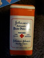 Johnson & Johnson Baby Powder 100th Anniversary Tin Can Empty