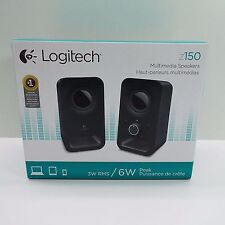 LOGITECH MULTIMEDIA SPEAKERS Z150 STEREO SOUND FOR MULTIPLE DEVICES, BLACK (T45)