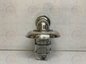 INDOOR EXTERIOR ANTIQUE WALL SCONCE LIGHT FIXTURE NAUTICAL ALUMINUM NEW