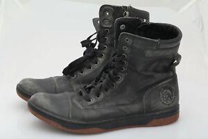 Diesel Men's Tatradium Basket Butch Zip Leather Boot Size 10.5